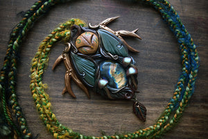 Woodland Owl with Labradorite Necklace