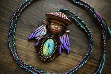 Fly Agaric Mushroom Faerie with Labradorite Necklace