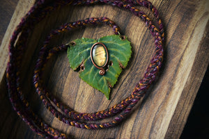 Labradorite Leaf Necklace