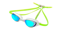 Aspect Goggles White/lime Rainbow lens