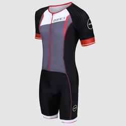 Men's Aero-Flo Lava Full Zip Short Sleeve Trisuit