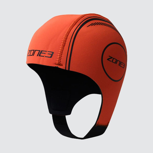 Orange Neoprene Swim Cap