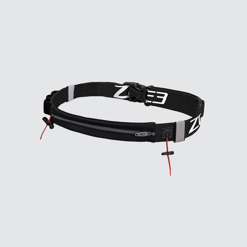 Endurance Number Belt with Lycra Fuel Pouch and Energy Gel Storage