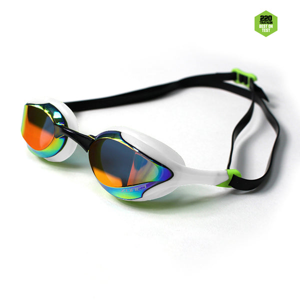 Volare Streamline Racing Swim Goggles White/lime