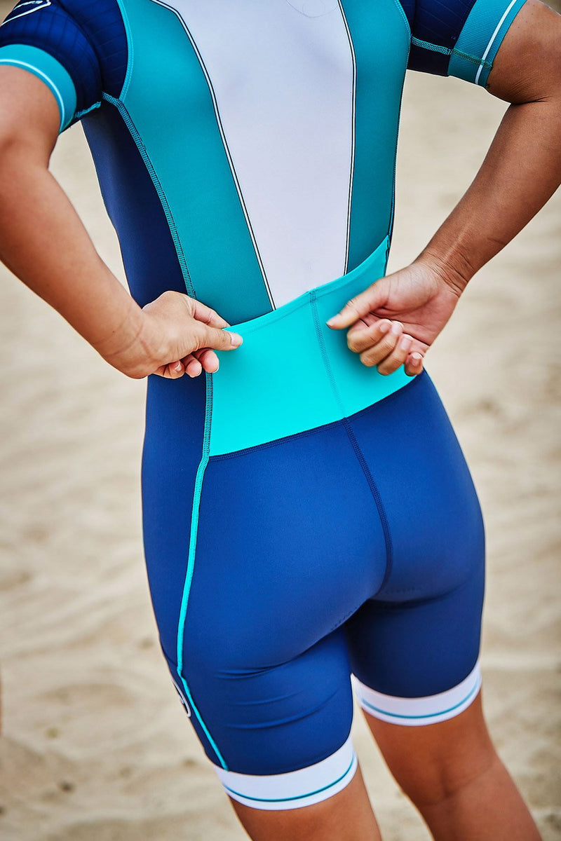 Women's Lava Long Distance Full Zip Short Sleeve Trisuit