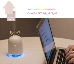 Ultrasonic Air Humidifier, Aroma Essential Oil Diffuser with LED Night Lamp