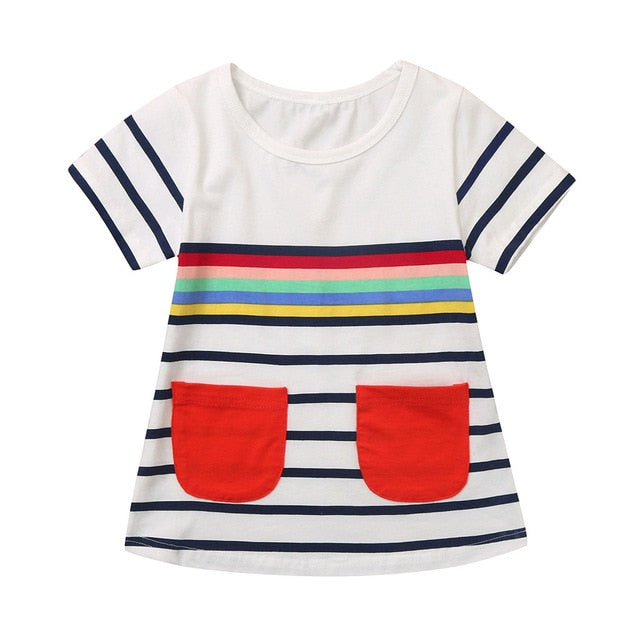 The Lila Striped Girls Dress