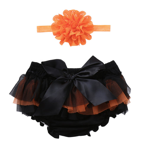Baby Halloween Tutu Bloomer and Headband