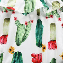Load image into Gallery viewer, Callie's Cactus Onesie and Denim Shorts Set