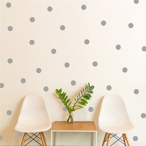 Gray or White Polka Dot Wall Stickers