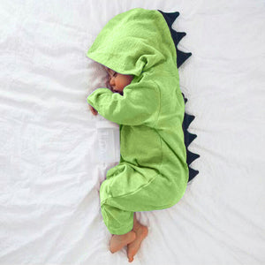 Dinosaur Hooded Jumpsuit: Baby Apparel