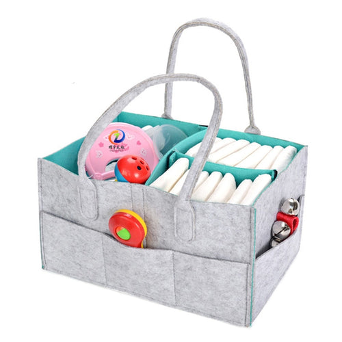 Foldable Diaper & Wipes Caddy