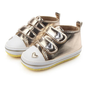 Metallic Leather Baby High Tops