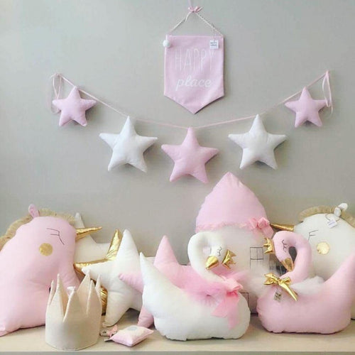 Handmade Fabric Star Garland