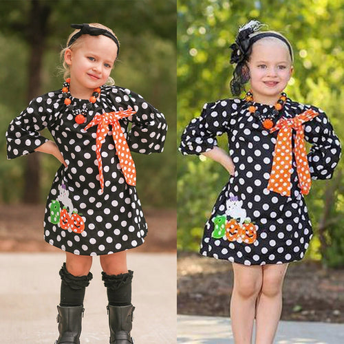 Little GirlPolka Dot Halloween Dress