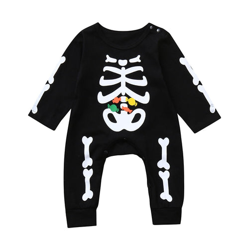 Infant/Toddler Halloween Skeleton Print Onesie