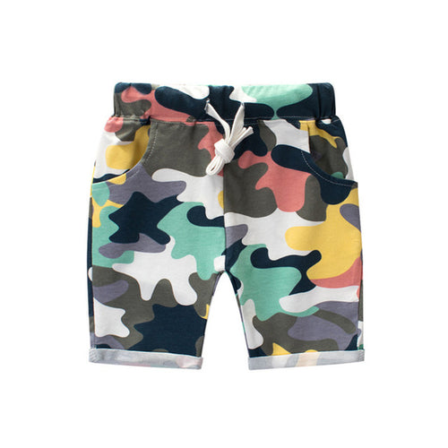 Colorful, Cool Camo Shorts