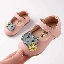 Load image into Gallery viewer, Baby Girl Kitty Mary Jane Shoes (2 colors)