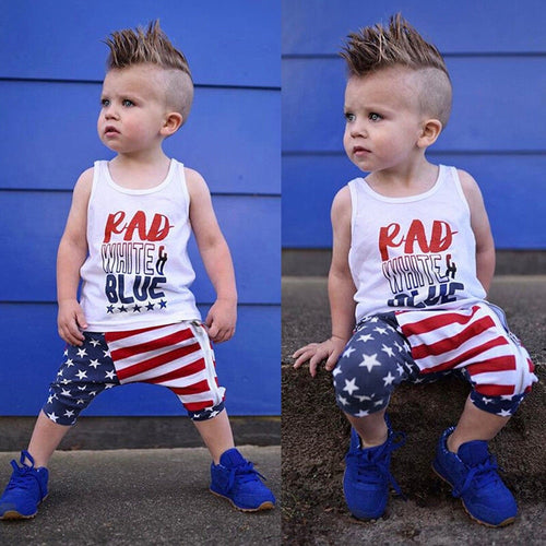RAD, White & Blue Toddler Outfit