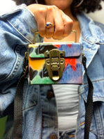 Vintage 90s Multi-Color Tiny Box Purse