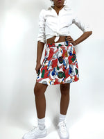 Vintage Tennis Skirt. Red and white