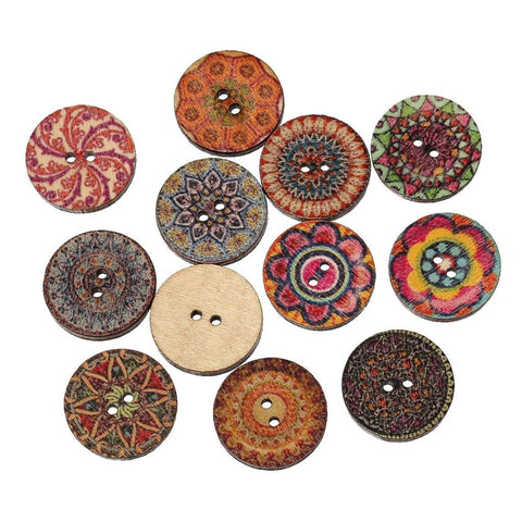 Image of 15 Pc Wooden Butons