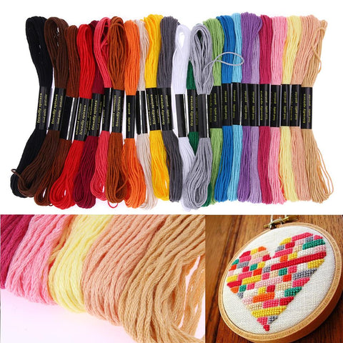 Image of Embroidery Thread 24 Pc