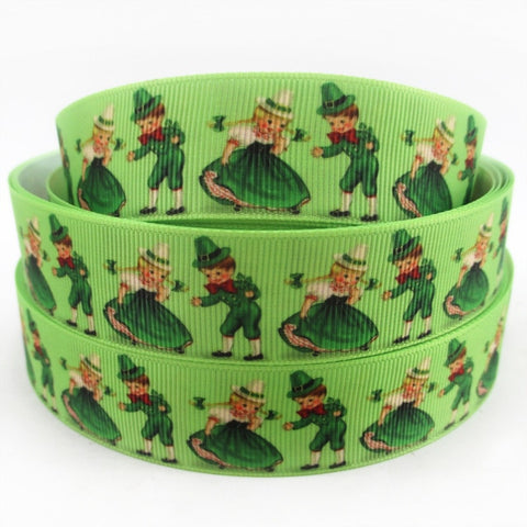 "Image of St Patricks Gross Grain Value Ribbon 1"" x 10 yds"