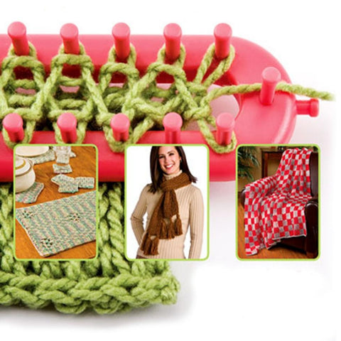 Image of Krafty Knitter Scarf & Blanket Loom 4 Piece Set