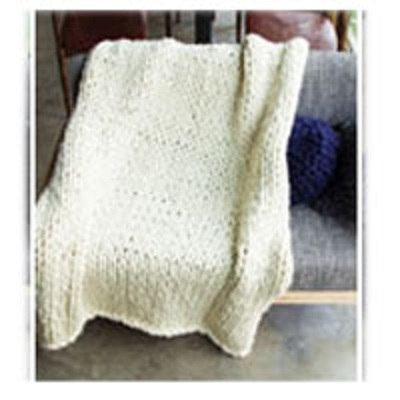 Image of Chunky Hand Knit Blanket