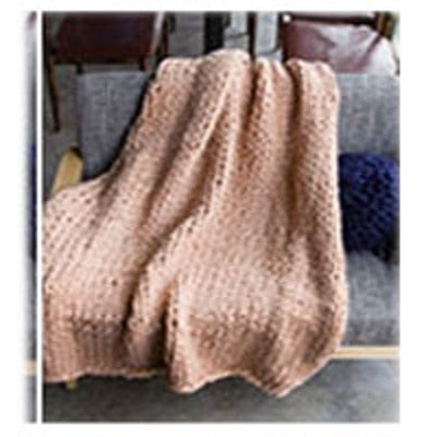 Chunky Hand Knit Blanket