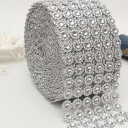 Image of Heart Rhinestone Ribbon 1YD