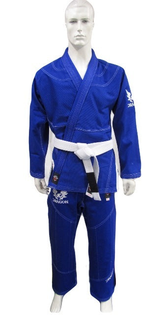 DRAGON V2 450GSM BJJ GI - IBJJF APPROVED (BLUE)