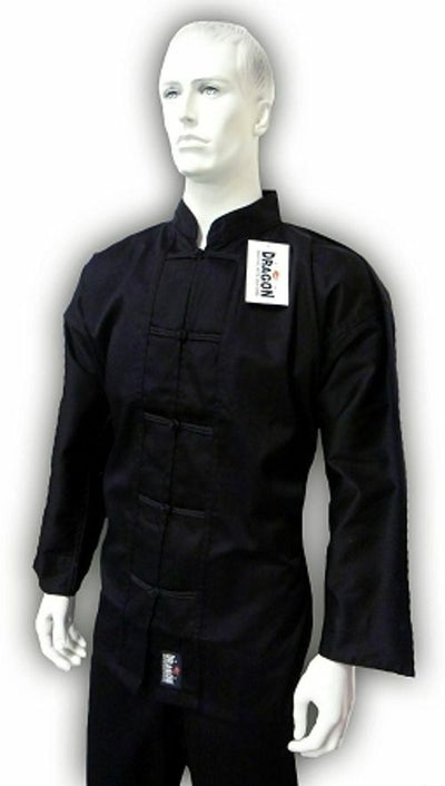 YAMASAKI KUNG FU UNIFORM (BLACK TRIM) - 10OZ