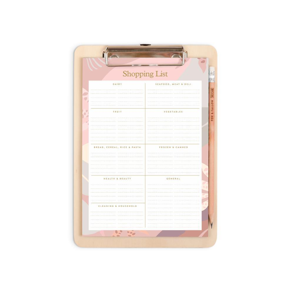 Arcadia A5 Shopping List Clipboard Pack