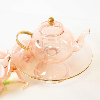 Rose Glass Teapot