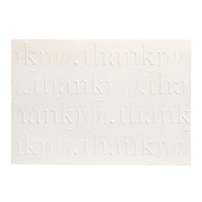A6 Ivory Embossed Thank You Card Pack