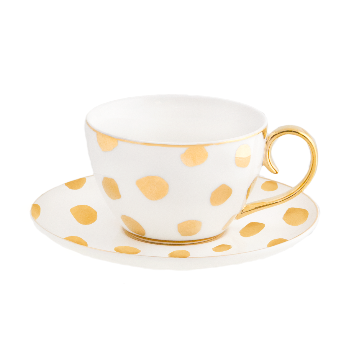 Luxury Polka D'Or Ivory Teacup