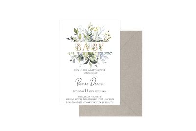 Baby Botanical Customised Baby Shower