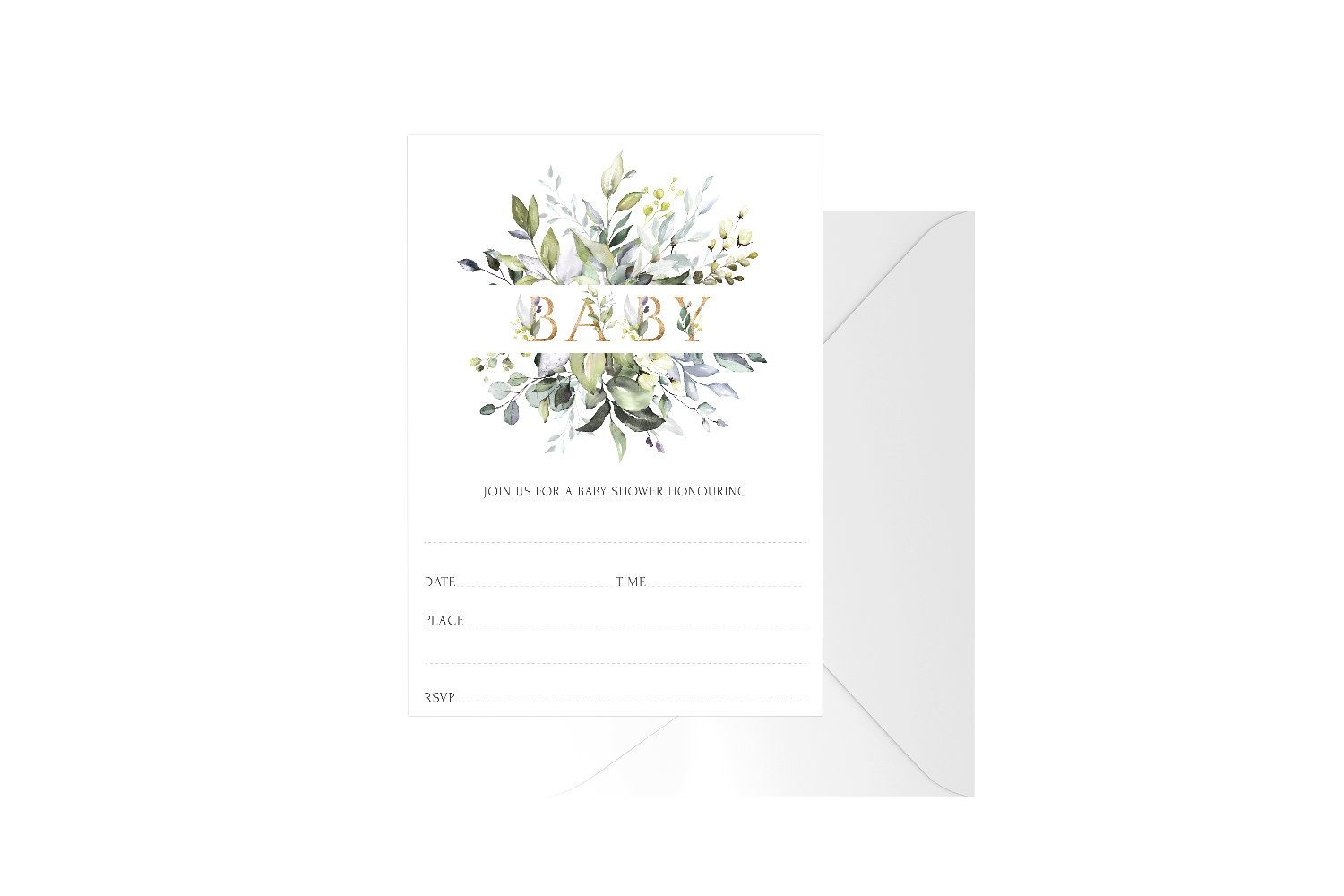 Baby Botanical Fill In Baby Shower