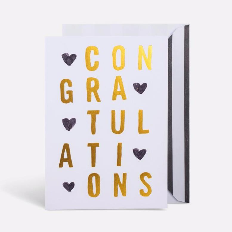 Congrats Heart Card