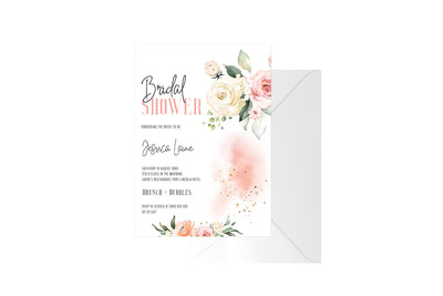 Bridal Shower Floral Customised Invitation