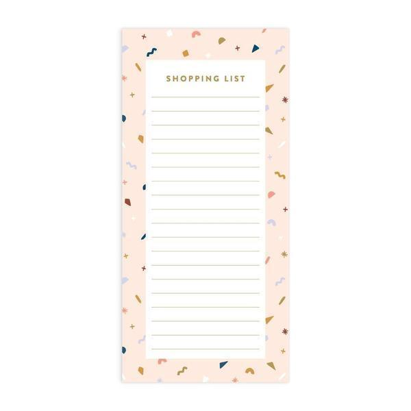 Confetti DL Shopping List Magnet Notepad