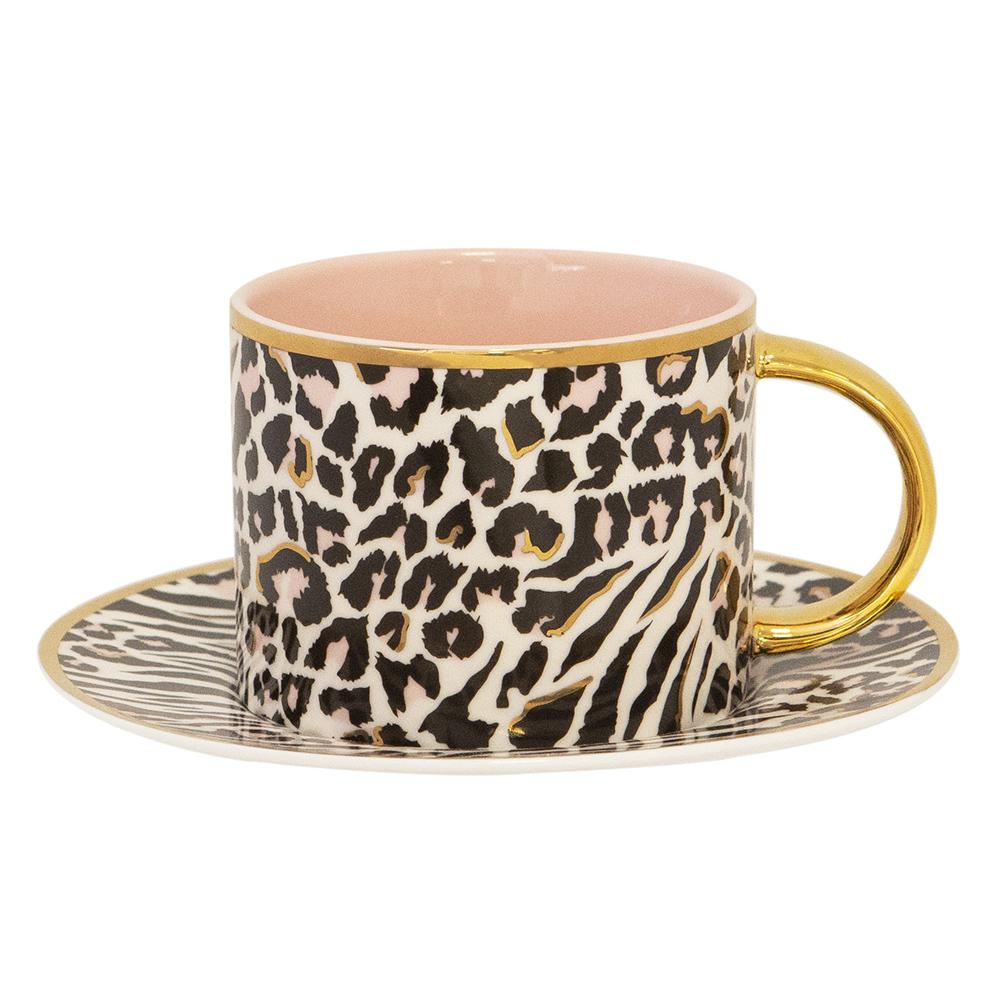 Safari Leopard Teacup & Saucer