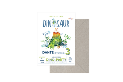 Party Like A Dinosaur Customised Birthday Boy