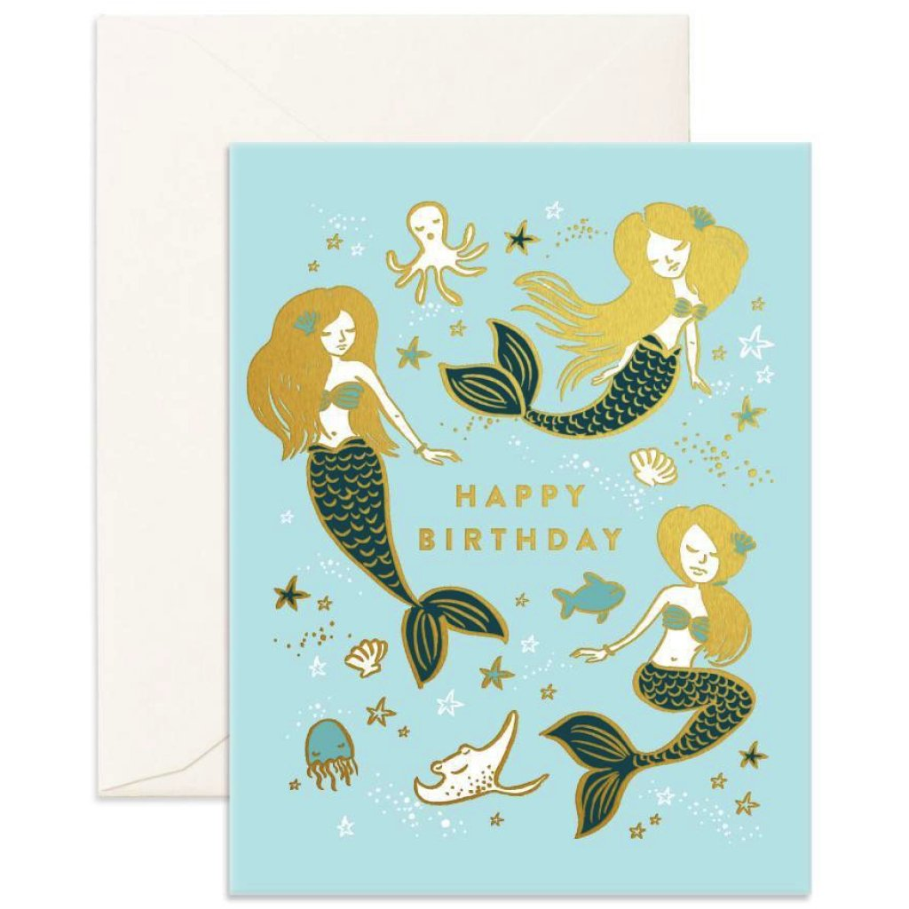 Mermaids Happy Birthday Card