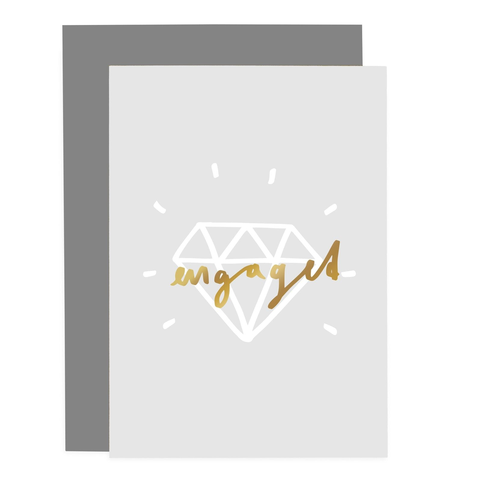 Engaged Blush Grey Card