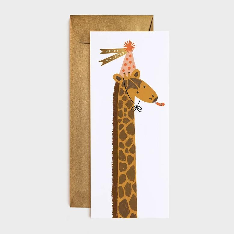 Giraffe Birthday Long Card