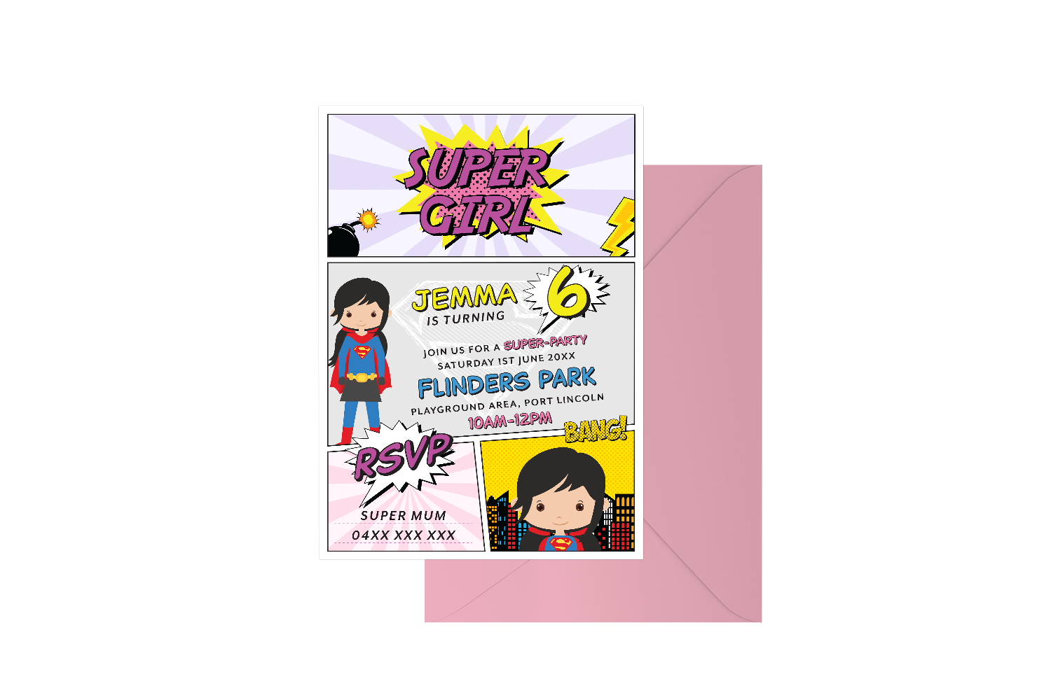 Party Like A Super Girl Customised Birthday