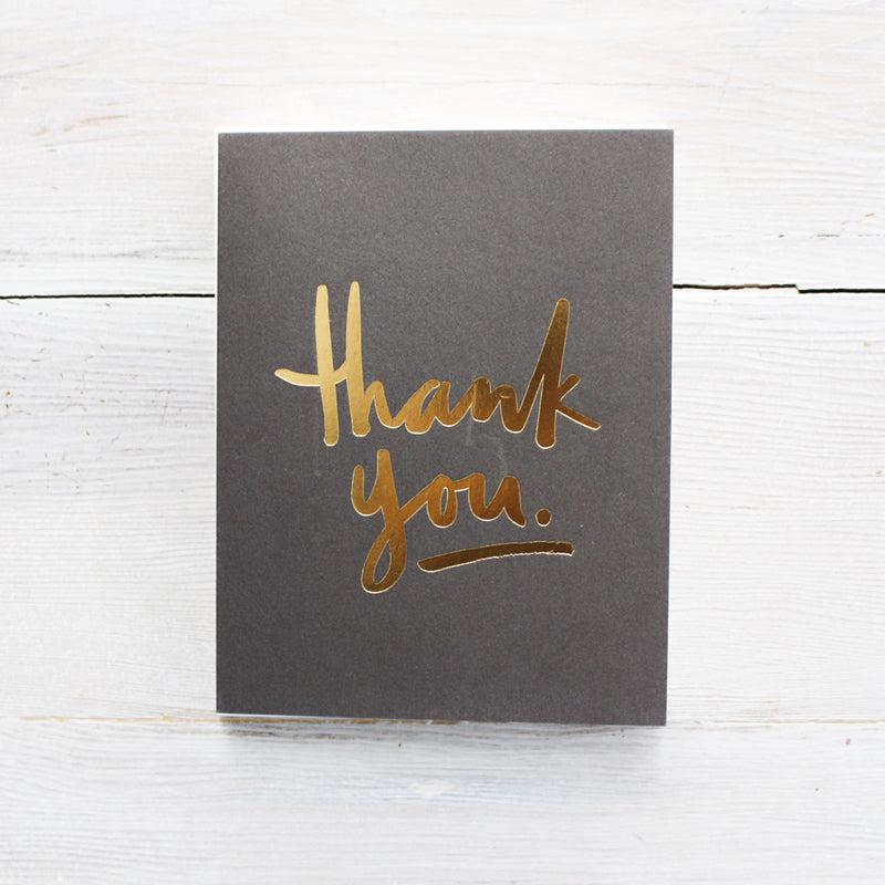 Thank You Gold Greeting Card Boxed Set